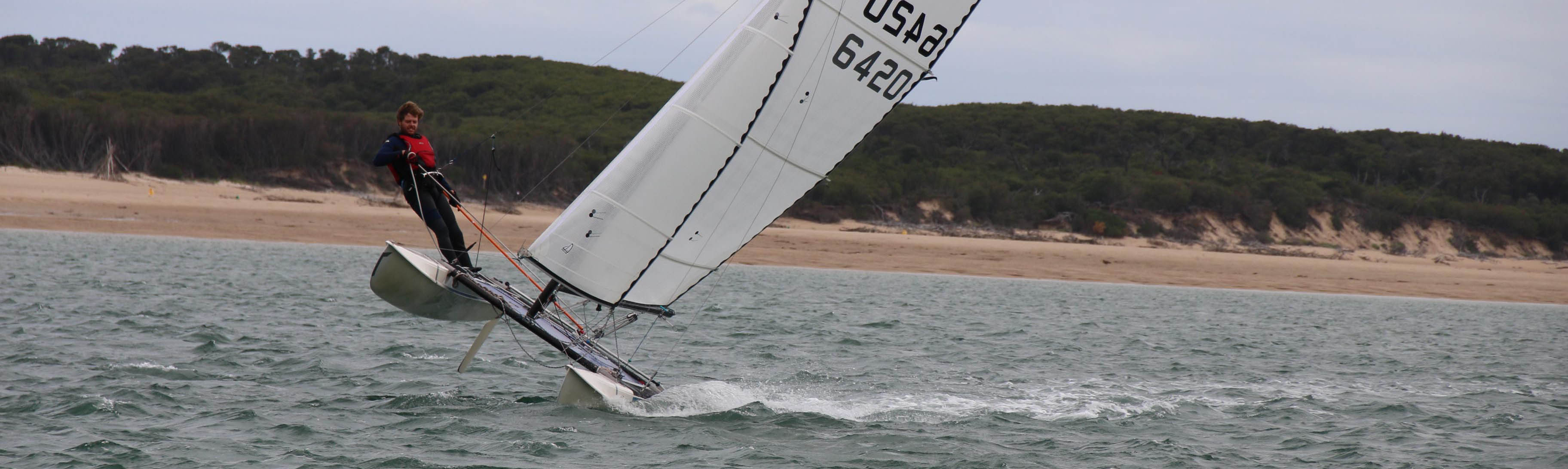 Fast exciting sailing